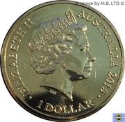 1 Dollar - Elizabeth II (4th Portrait - Year of the Goat) -  obverse