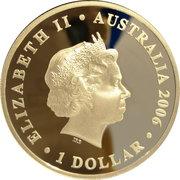 1 Dollar - Elizabeth II (4th Portrait - Figures of Note - Queen Elizabeth) -  obverse