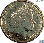 1 Dollar - Elizabeth II (4th Portrait - Inspirational Australians - Fred Hollows) -  obverse