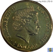 1 Dollar - Elizabeth II (4th Portrait - Year of the Rabbit) -  obverse