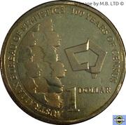 1 Dollar - Elizabeth II (4th Portrait - 100 Years of Census) -  reverse