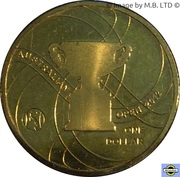 1 Dollar - Elizabeth II (4th Portrait - Australian Mens Open) -  reverse