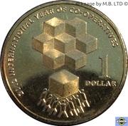 1 Dollar - Elizabeth II (4th Portrait - Year of the Co-Operatives) -  reverse