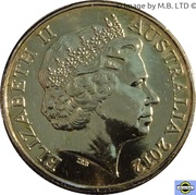 1 Dollar - Elizabeth II (4th Portrait - AFL Premiers 2012) -  obverse