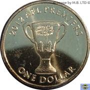1 Dollar - Elizabeth II (4th Portrait - AFL Premiers 2012) -  reverse