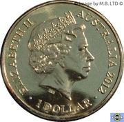 1 Dollar - Elizabeth II (4th Portrait -  AFL Premiers Sydney Swans 2012) -  obverse