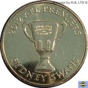 1 Dollar - Elizabeth II (4th Portrait -  AFL Premiers Sydney Swans 2012) -  reverse