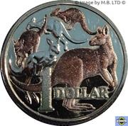 1 Dollar - Elizabeth II (4th Portrait - 30 Years Mob of Roos) -  reverse