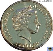 1 Dollar - Elizabeth II (4th Portrait - Year of the Horse) -  obverse
