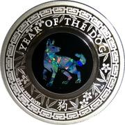 1 Dollar - Elizabeth II (4th Portrait - Year of the Dog) -  reverse