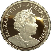 1 Dollar - Elizabeth II (6th Portrait - QANTAS Centenary - Silver Proof) -  obverse