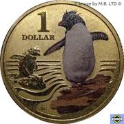 1 Dollar - Elizabeth II (4th Portrait - Polar Series - Rock Hopper Penguin) -  reverse
