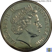 1 Dollar - Elizabeth II (4th Portrait - Australia's First Mints) -  obverse