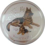 30 Dollars - Elizabeth II (4th Portrait - Year of the Dog - Silver Bullion Coin) -  reverse