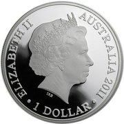 1 Dollar - Elizabeth II (4th Portrait - Kangaroo at Sunset - Silver Bullion Coin) -  obverse
