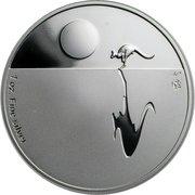1 Dollar - Elizabeth II (4th Portrait - Kangaroo at Sunset - Silver Bullion Coin) -  reverse