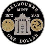 1 Dollar - Elizabeth II (4th Portrait - Melbourne Mint) -  reverse