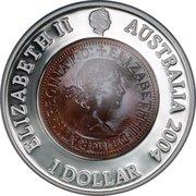 1 Dollar - Elizabeth II (4th Portrait - Last Australian Penny) -  obverse