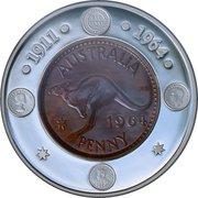 1 Dollar - Elizabeth II (4th Portrait - Last Australian Penny) -  reverse