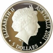 5 Dollars - Elizabeth II (4th Portrait - Finale - Centenary of Federation) -  obverse