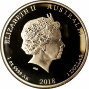 1 Dollar - Elizabeth II (4th Portrait - Year of the Dog) -  obverse