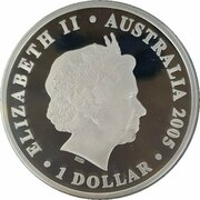 1 Dollar - Elizabeth II (4th Portrait - Coco-Keeling islands 50th Anniversary Silver Proof) – obverse