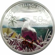 1 Dollar - Elizabeth II (4th Portrait - Coco-Keeling islands 50th Anniversary Silver Proof) – reverse