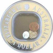 1 Dollar - Elizabeth II (4th Portrait - 40th Anniversary end of Pre-Decimal Coinage) -  obverse