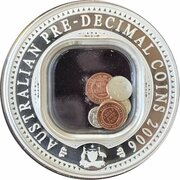 1 Dollar - Elizabeth II (4th Portrait - 40th Anniversary end of Pre-Decimal Coinage) -  reverse