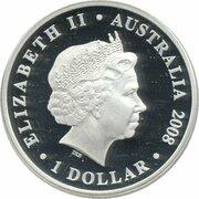 1 Dollar - Elizabeth II (4th Portrait - HRH The Prince of Wales 60th Birthday) – obverse