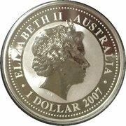 1 Dollar - Elizabeth II (4th Portrait - Year of the Tiger - Silver Bullion Coin) -  obverse