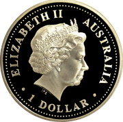 1 Dollar - Elizabeth II (4th Portrait - Killer Whale) -  obverse