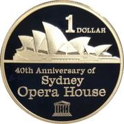 1 Dollar - Elizabeth II (4th Portrait - Sydney Opera House) -  reverse