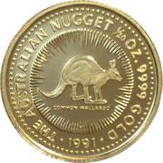 5 Dollars - Elizabeth II (3rd Portrait - Common Walleroo - Gold Proof) -  reverse
