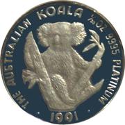 5 Dollars - Elizabeth II (3rd Portrait - Koala - Platinum) – reverse