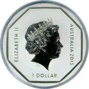 1 Dollar - Elizabeth II (4th Portrait - Kangaroo Road Sign) -  obverse