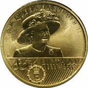 1 Dollar - Elizabeth II (4th Portrait - 85th Birthday Queen Elizabeth II) – reverse
