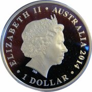 1 Dollar - Elizabeth II (4th Portrait - Megafauna - Diprotodon) -  obverse