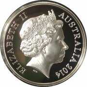 1 Dollar - Elizabeth II (4th Portrait - 30th Anniversary of the $1 Coin - High Relief Silver Proof) -  obverse