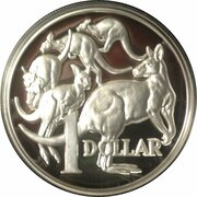 1 Dollar - Elizabeth II (4th Portrait - 30th Anniversary of the $1 Coin - High Relief Silver Proof) -  reverse