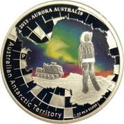 1 Dollar - Elizabeth II (4th Portrait - Aurora Australis) -  reverse