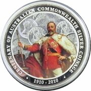 1 Dollar - Elizabeth II (4th Portrait - 100th Anniversary of Australian Commonwealth Silver Coinage) -  reverse