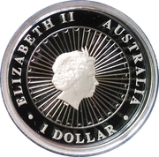 1 Dollar - Elizabeth II (4th Portrait - Opal Tasmanian Devil) -  obverse