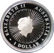 1 Dollar - Elizabeth II (4th Portrait - Opal Ghost Bat) -  obverse