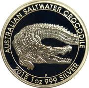 1 Dollar - Elizabeth II (4th Portrait - Saltwater Crocodile) -  reverse