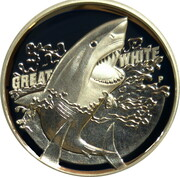 1 Dollar - Elizabeth II (4th Portrait - Great White Shark) -  reverse