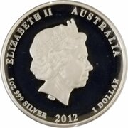 1 Dollar - Elizabeth II (4th Portrait - Year of the Dragon - Silver Proof High Relief) – obverse