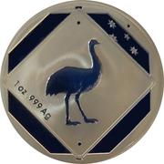 1 Dollar - Elizabeth II (4th Portrait - Emu Road Sign) -  reverse