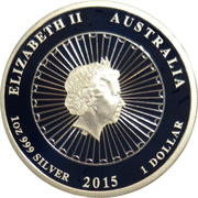 1 Dollar - Elizabeth II (4th Portrait - Australian Mother of Pearl) -  obverse