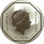 1 Dollar - Elizabeth II (4th Portrait - Emu Road Sign) -  obverse